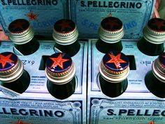 Beautiful, star-studded bottles at the @Pellegrino stand, #PicknPayTasteofCPT