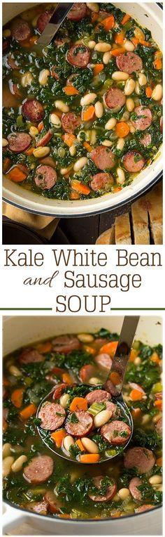 »Kale White Bean and Sausage Soup«