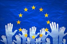European union flag.  by Rommeo79 on @creativemarket