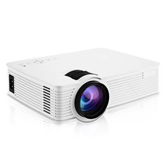 Portable HD Mini Projector, GBTIGER 2000 Lumens 1920 x 1080 Pixels LCD/LED Projector Home Theater, AV / HDMI port (White)