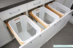 Modern Farmhouse Laundry Room Remodel Decor Ideas - Page 47 of 47 Laundry Room Baskets, Laundry Sorter, Laundry Decor, Farmhouse Laundry Room, Laundry Hacks, Laundry Hamper, Laundry Room Design, Laundry In Bathroom, Laundry Organizer