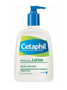 Gentle Cetaphil Moisturizing Lotion ($10.99) can be used on even the most problematic skin—think acne, eczema, and rosacea—without causing irritation. We like it on both face and body for all-day, nongreasy hydration.