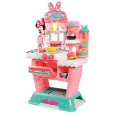 Product Image of Minnie Mouse Brunch Café Playset # 1 Hasbro My Little Pony, Little Girl Toys, Baby Girl Toys, Toys For Girls, Kids Toys, Little Girls, Minnie Mouse Kitchen, Minnie Mouse Toys, Kitchen Sets For Kids