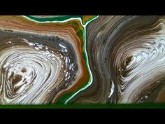 """Fluid-Art: 3 """"swirl /tree rings"""" painting, Acrylic pouring - YouTube"""