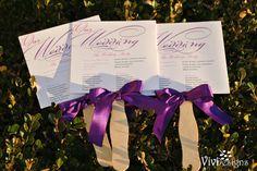 Exquisite Fan Wedding Program