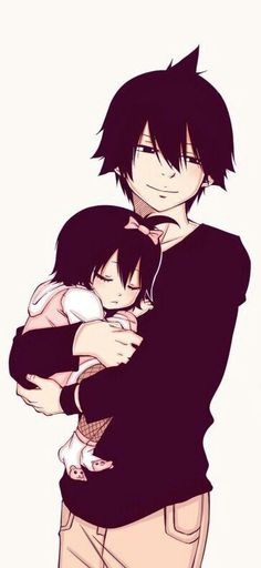 Zeref and his daughter. <3
