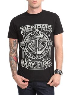 Memphis May Fire Anchor Slim-Fit T-Shirt | Hot Topic. Next time I get spending money I'm gunna get this. #anchor #mmf #love