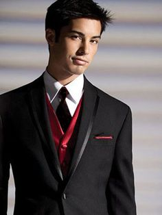 Tuxedo with Red Vest - Christmas?