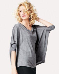 Eileen Fisher Silk & Cotton Boxy Top