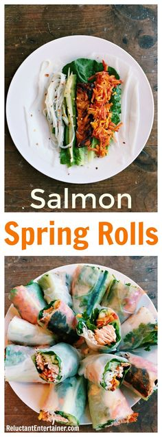 Salmon Spring Rolls Recipe is a delightful dish made with leftover salmon and fresh veggies, for a perfect weeknight dinner!