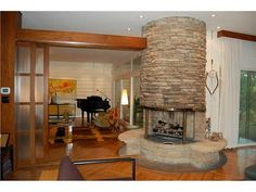 1000 images about fireplace on pinterest mid century - Mid century modern wood stove ...
