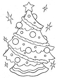 Printable Christmas Tree Coloring Pages Sheets Images Pictures