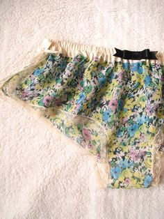 Floral Chiffon Sleep Boxers: By Naomi Lingerie