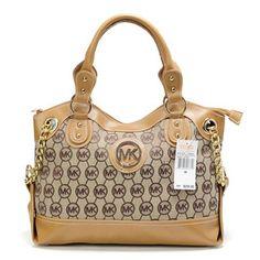 New Michael Kors Handbag MK Medium Brown
