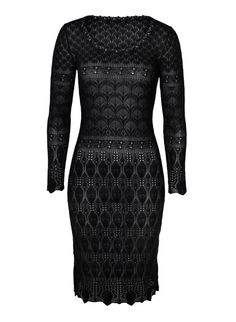 Inspired by a sampler of delicate laces, our Cabernet lace knit dress is unabashedly romantic in drapy pima crepe. At once sultry and sophisticated, the shapely fit traces and flatters the body's curves, and pretty handcrocheted trim accents the round neck. Slip worn underneath sold separately.