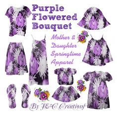 """""""Purple Flowered Bouquet"""" by jnccreations ❤ liked on Polyvore featuring Design Element"""