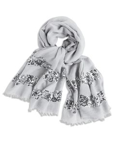 Sequined Sophie Scarf  Add sparkle to your look with this sequined scarf.
