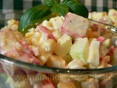 Osvěžující krabí salát – Maminčiny recepty Krabi, Pasta Salad, Potato Salad, Salads, Food And Drink, Ethnic Recipes, Anna, Diet, Crab Pasta Salad