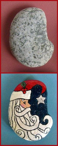 Christmas Painted Rocks Ideas 18