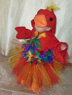 Peaches and Bees: Halloween Parrot Costume for Baby Momo #costume