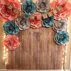 Ideas Baby Reveal Backdrop Gender Neutral For 2019 Gender Reveal Themes, Gender Reveal Party Decorations, Baby Gender Reveal Party, Gender Party, Decoration Photo, Babyshower, Backdrops For Parties, Baby Party, Gender Neutral