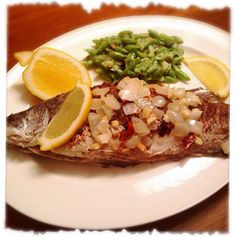 A Healthy Menu for Blood Type A : Grilled White Fish with Onion & Sauté Green Bean
