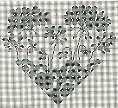 Corazón y flores