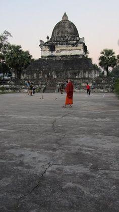Wat Visounnarat. Luang Prabang, Laos Luang Prabang, Laos, Louvre, Building, Travel, Viajes, Buildings, Destinations, Traveling