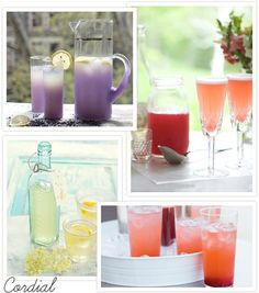 yummy non-alcoholic drink choices... cordials, lemonades & mocktails, oh my!