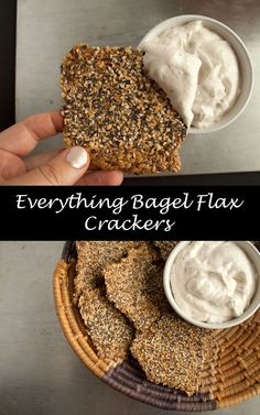 Everything Bagel Flax Crackers - Are you vegan and gluten free and miss everything bagels? These may not satisfy your bagel craving, but they may satisfy your everything seasoning craving!
