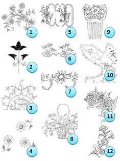 Free patterns from Broderie d'Antan via Craft Gossip