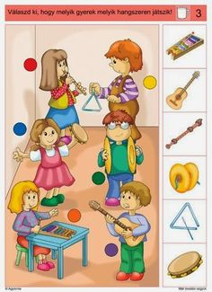 Crafts,Actvities and Worksheets for Preschool,Toddler and Kindergarten.Lots of worksheets and coloring pages. Kids Learning Activities, Brain Activities, Toddler Learning, Preschool Worksheets, Music Lessons For Kids, Music Lesson Plans, Music For Kids, Music Crafts, Kids Education