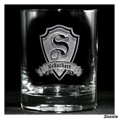 Family Crest Personalized Whiskey Glass Whiskey Glasses