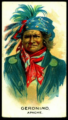 Cigarette Card - Indian Chief, Geronimo by cigcardpix, via Flickr