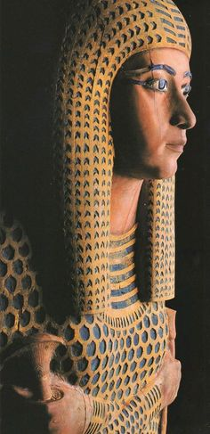 Sarcophagus of Queen Ahmose Merit-Amun from Thebes. Ahmose-Meritamun was the royal daughter of Ahmose I and Ahmose Nefertari, and became the Great Royal Wife of her brother Amenhotep I, pharaoh of...