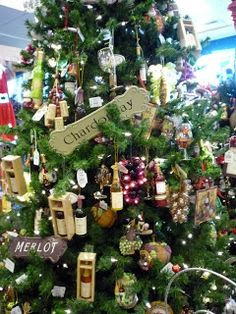 wine theme Christmas tree