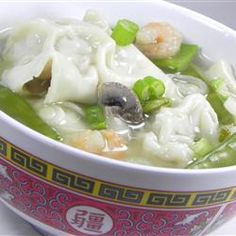 """Homemade Wonton Soup 