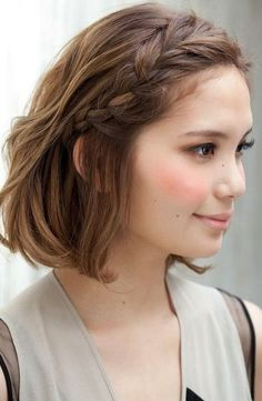 accent braid | medium length #hairstyles