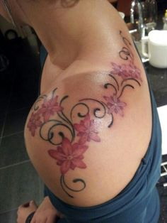 Another angle of the perfect shoulder tattoo to flow into my back tattoo =)