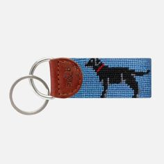 Add some style to your keys with a Smathers & Branson needlepoint key fob.