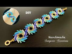Bracelet Crafts, Jewelry Crafts, Handmade Jewelry, Beaded Bracelets Tutorial, Beaded Bracelet Patterns, Bead Crochet Patterns, Beading Patterns, Seed Bead Jewelry, Diy Bracelet