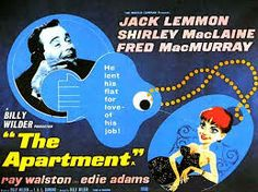 """The Apartment (1960) is comedy-drama  produced and directed by Billy Wilder, starring Jack Lemmon, Shirley MacLaine, and Fred MacMurray. It was a critical and commercial success, making $25 million at the box office and receiving a range of positive reviews. The New York Times film critic Bosley Crowther called it """"A gleeful, tender, and even sentimental film."""" But due to its theme of adultery, the film was controversial for its time. The Saturday Review called it """"a dirty fairy tale."""""""
