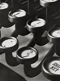 Title: [Typewriter keys] Creator(s): Steiner, Ralph, photographer Related Names: Clarence H. White School of Photography. Date Created/Published: printed Alfred Stieglitz, Edward Steichen, David Bailey, Straight Photography, Still Life Photography, Annie Leibovitz, Richard Avedon, Vintage Office, Retro Vintage