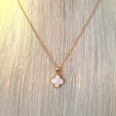 HP✨ Mother of Pearl Clover Necklace✨ They're here!! ✨ Mother of Pearl Clover ✨Necklace NWT 18k gold plated titanium steel.  High quality. Jewelry Necklaces