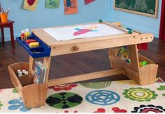 KidKraft Art Table with Drying Rack & Storage - SensoryEdge - 2