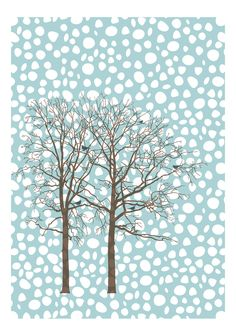 Let It Snow - by Grimalkin Studio / Kandy Hurley  #snow #holiday #Cards @grimalkinart
