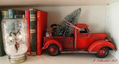 Fun way to decorate with toy truck...