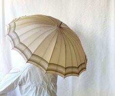 Antique umbrella with hoof handle ivory silk by ProfessorTiny, $75.00