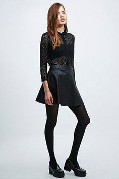 Cooperative by Urban Outfitters All-Over Lace Blouse in Black #laceblouse #women #covetme #cooperativebyurbanoutfitters #urban #urbanoutfitters #dark