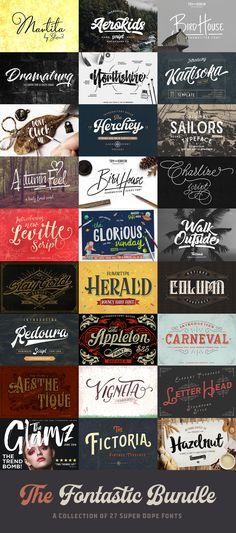 The Fontastic #Bundle: 27 Fantastic #Fonts – 99% Off